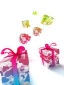 COLORFUL VALENTINE PACKAGES — Stock Photo