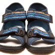 Magnificent dark blue sandals — Stock Photo