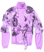 Purple Women's pullover — Stock Photo
