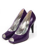 Violet female shoes — Stock Photo