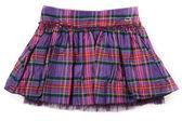 Rumpled checkered short skirt — Stock Photo