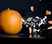 Strzał w orange — Zdjęcie stockowe