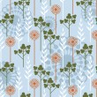 Stock vektor: Floral wallpaper