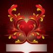 Vetorial Stock : Heart background
