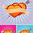 Royalty-Free Stock Vector Image: Two hearts