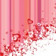 Vector de stock : Hearts background