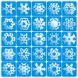 Super natural snowflakes - Vettoriali Stock