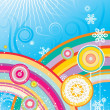 Rainbows and snowflakes — Grafika wektorowa