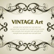Stock Vector: Vintage template frame