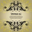 Vintage template frame — Stock Vector