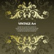 Vector de stock : Vintage template frame