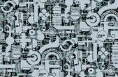 Geometriska tapeter — Stockvektor