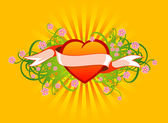 Floral_ heart05 — Stock Vector