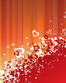 Hearts background — Stockvector