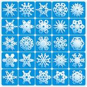 Süper doğal kar taneleri — Stok Vektör
