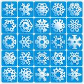 Super natural snowflakes — Stock Vector