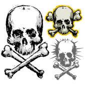 Grunge schedel — Stockvector