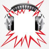 Hörlurar — Stockvektor