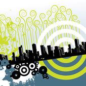 абстрактный город — Cтоковый вектор