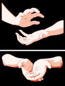 Handen — Stockvector