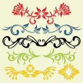 Líneas florales — Vector de stock