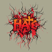 Hate — Vector de stock