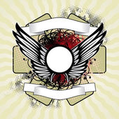 Koninklijke vleugels — Stockvector