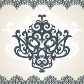 Floral ornament — Vector de stock