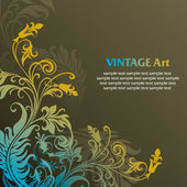 Ornamento floral — Vector de stock