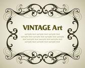 Vintage sjabloon frame — Stockvector