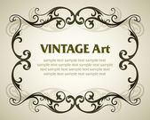 Vintage template frame — Vector de stock