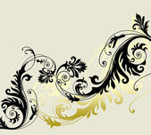 Floral ornament — Stockvector