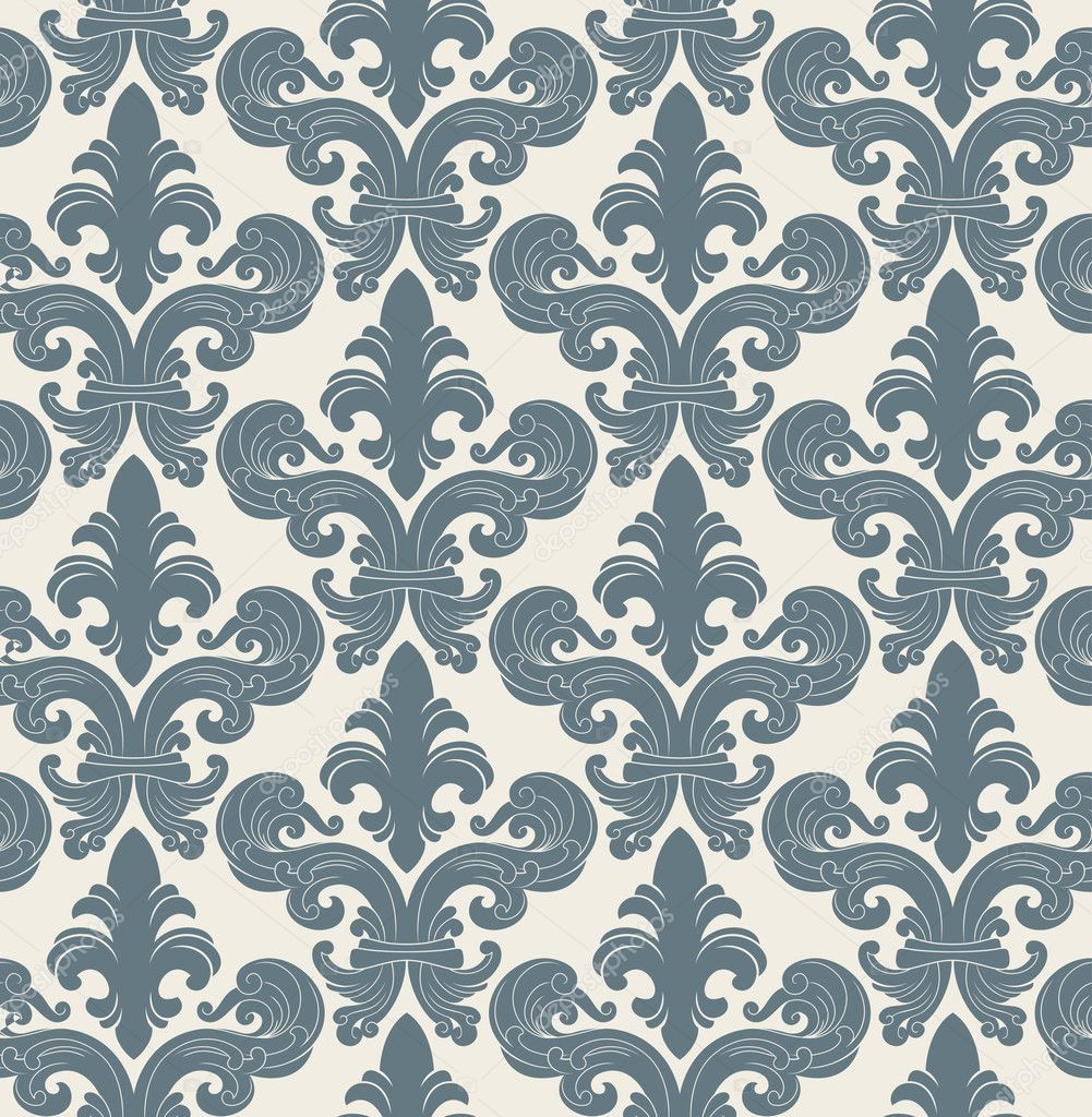 Seamless background from a floral ornament, Fashionable modern wallpaper or textile  Stock Vector #2031218