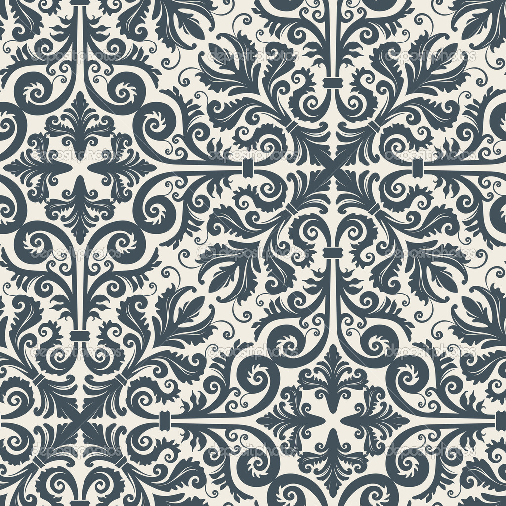 Seamless background from a floral ornament, Fashionable modern wallpaper or textile — Stock Vector #2031273