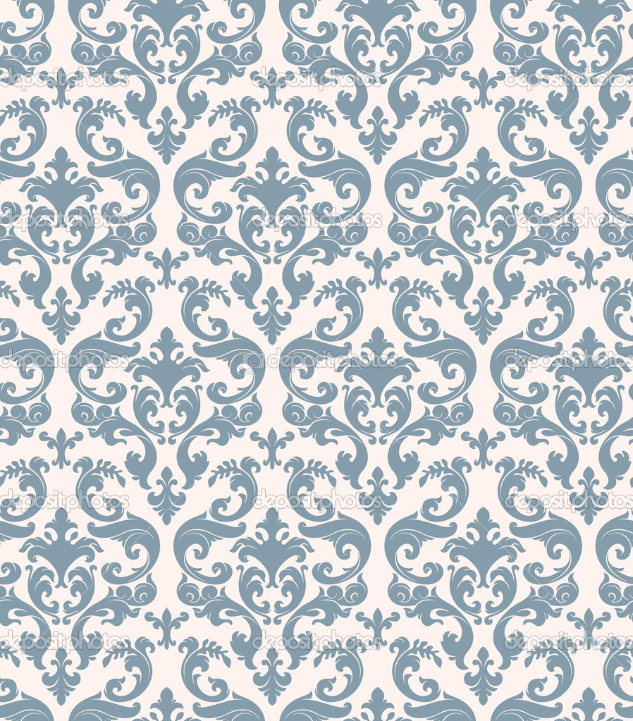 Seamless background from a floral ornament, Fashionable modern wallpaper or textile  Stock Vector #2031474