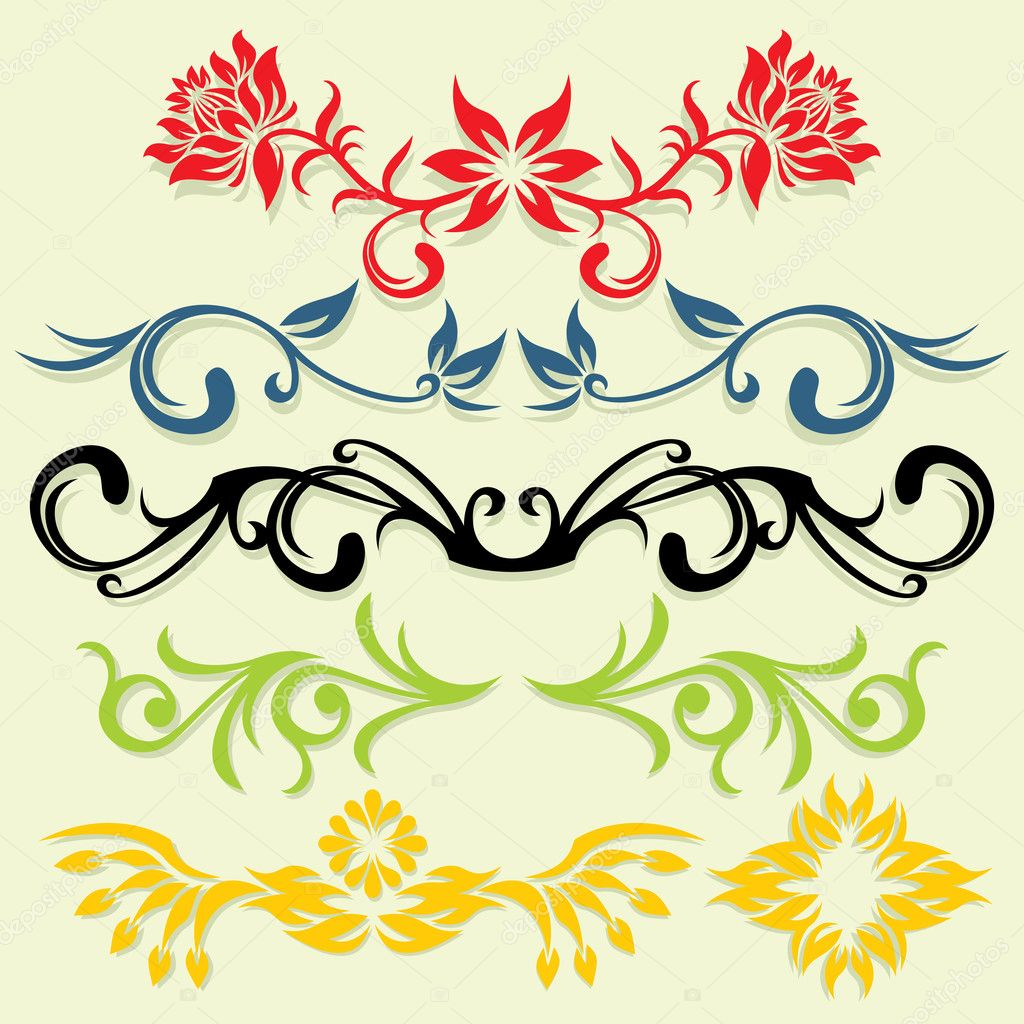 Vector ornament In flower style — Stock Vector #2032041