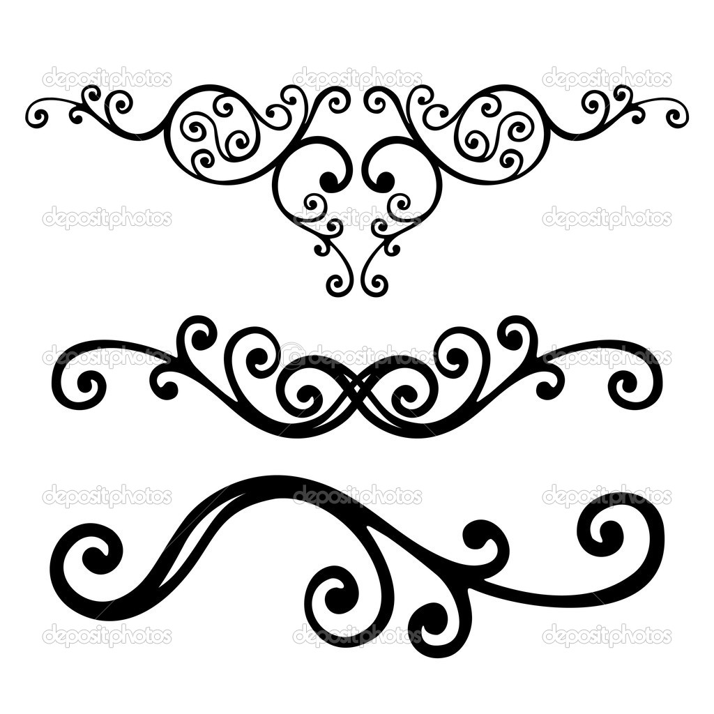 Vector Drawing Lines Html : Floral lines — stock vector sanyal
