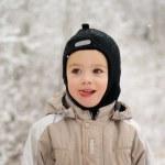 Boy on a winter walk — Stock Photo #1938755