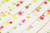 Marshmallow sticks with marmalade — Stock Photo