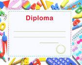 диплом дошкольного учреждения — Стоковое фото