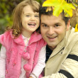 Girl with father — Stock Photo