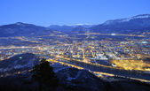 Overview of Trento in night time — Stock Photo