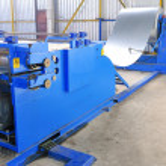 foglio di macchina per la laminazione in acciaio in wareh — Foto Stock