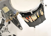 Close up drum with drumsticks — Stock Photo