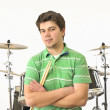 Stock Photo: Drummer player