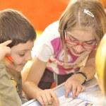 Kids doing homework — Stock Photo #2422118