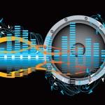 Music blue illustration — Stock Vector