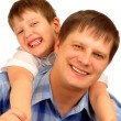 Isolated father and son — Stock Photo