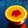 Fresh orange closeup — Stock Photo