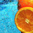 Fresh fruit orange - Stockfoto